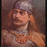 Bolesław Krzywousty na pocztówce z 1938 r. Matejko, Jan (1838-1893). Źródło: Polona