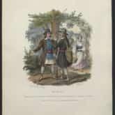 Kurpie. Ryt. Jan Nepomucen Lewicki (1841). Ze zbiorów Polona