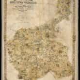 Ścienna mapa poglądowa Królestwa Polskiego autorstwa Jadwigi Wójcickiej (1885). Źródło: Polona