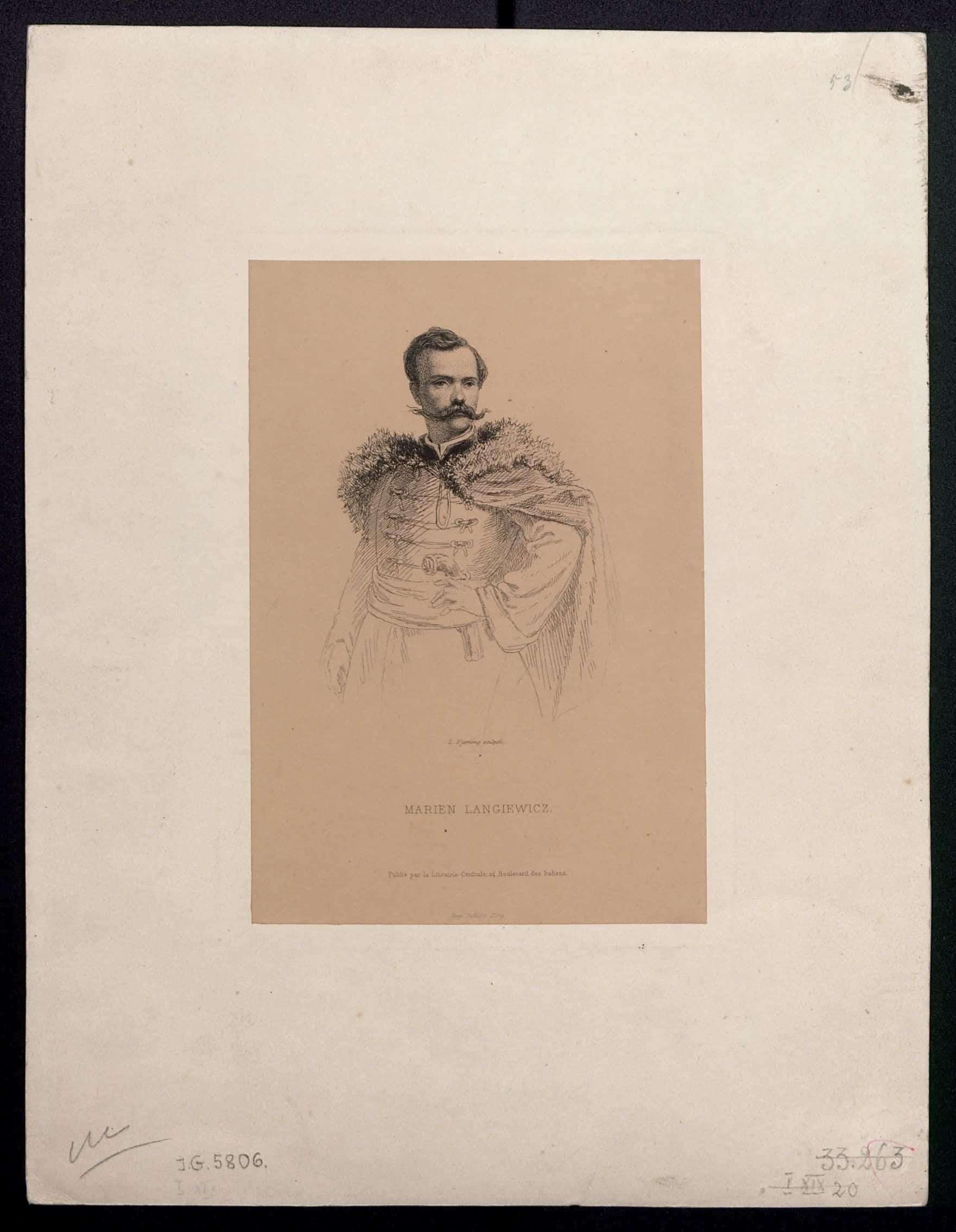 Marian Langiewicz. Ryt. L. Flameng. Źródło: Polona