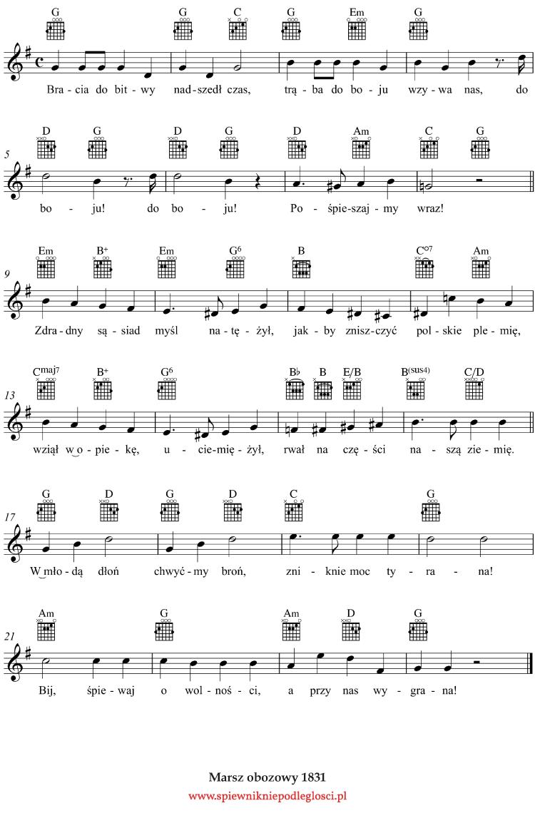 Marsz-Obozowy-1831 nuty