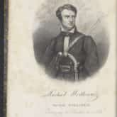 Michał Wołłowicz. Grafika z poematu Dziesięć obrazów. Paryż 1841. Źródło: Polona