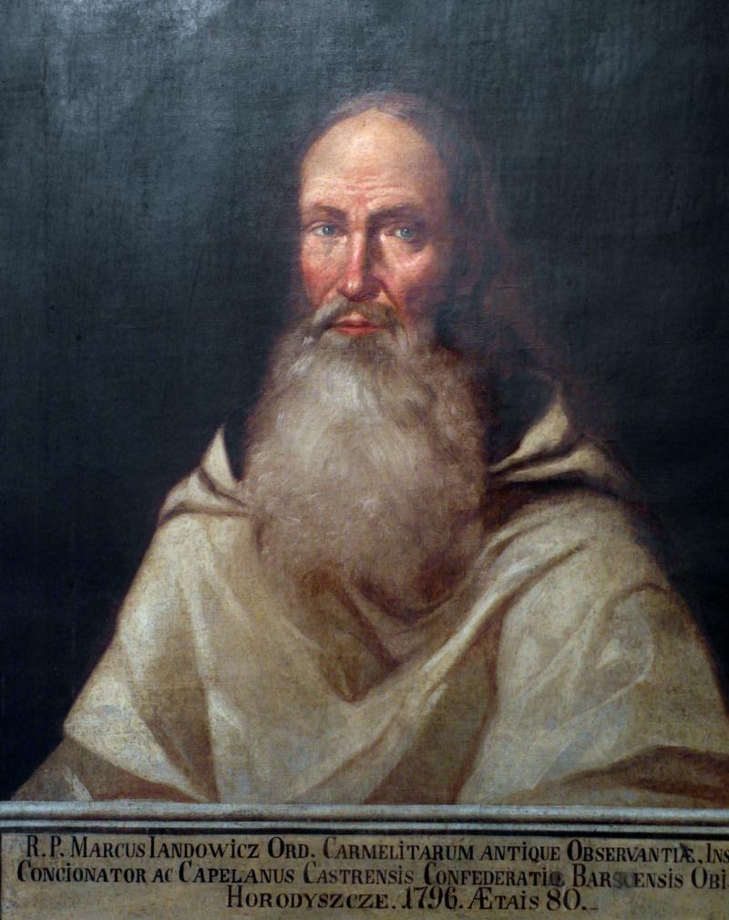 """Ojciec Marek Jandołowicz (""""Ksiądz Marek""""). Obraz nieznanego malarza z XVIII wieku. Źródło: Wikipedia"""