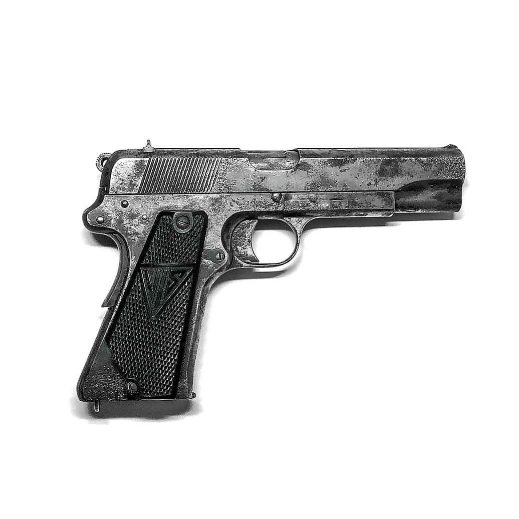 Polski pistolet VIS, będący często na uzbrojeniu członków polskiego podziemia niepodległościowego.