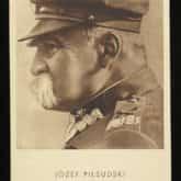 Pocztówka - Józef Piłsudski, pierwszy Marszałek Polski (1934). Źródło: Polona