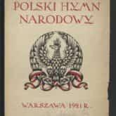 """Druk muzyczny """"Polski hymn narodowy"""" z 1921 roku, w którym opublikowano tekst utworu oraz nuty. Źródło: Polona"""