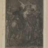 Porwanie króla Stanisława Augusta w 1771 r. Akwaforta. Źródło: Polona