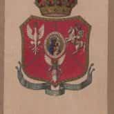 Ryngraf z wizerunkiem Matki Boskiej Częstochowskiej i inskrypcją Boże sbaw [!] Polskę. Źródło: Polona