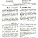 """""""Szaniec"""" – pismo Narodowych Sił Zbrojnych. Pierwsza strona numeru z 15 sierpnia 1944 r. Zdigitalizowane numery """"Szańca"""". Źródło: Mazowiecka Biblioteka Cyfrowa"""