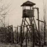 Wieżyczka strażnicza sowieckiego, jenieckiego obozu NKWD w Rembertowie.